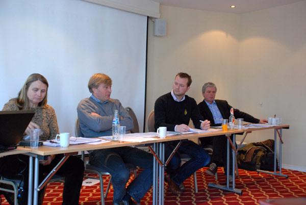 Cecilie Kilde, Robert Ruud, Einar Ballestad og Alf Kjetil Andresen.