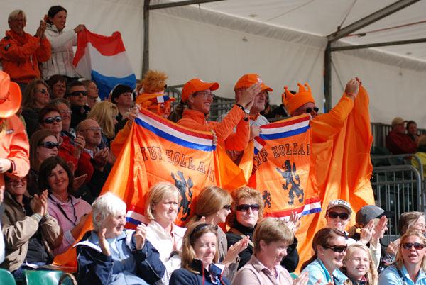 De hollanske supporterne hadde all grunn til å juble i dag.