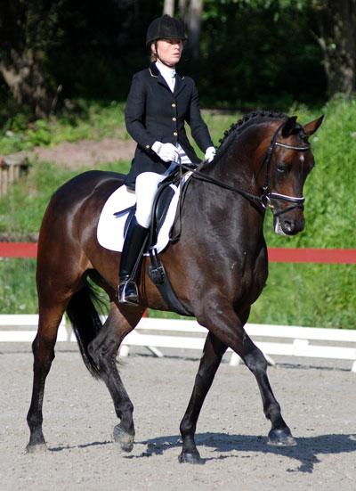 Siri Aschim og Moselunds Rival vant andre avdeling i breedersklassen for 5-åringene.